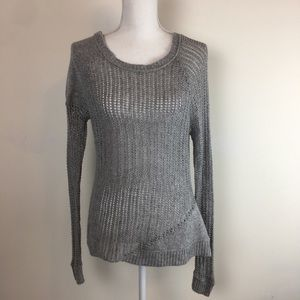 Converse One Star Knit See Through Pullover Gray